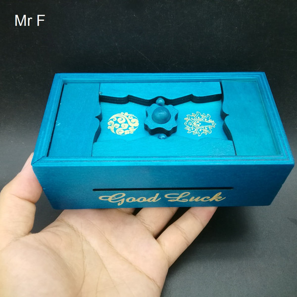 Gift Box Wood Secret Box Mind Brain teaser Puzzle Wooden Puzzle Game Money Coin Magic Box