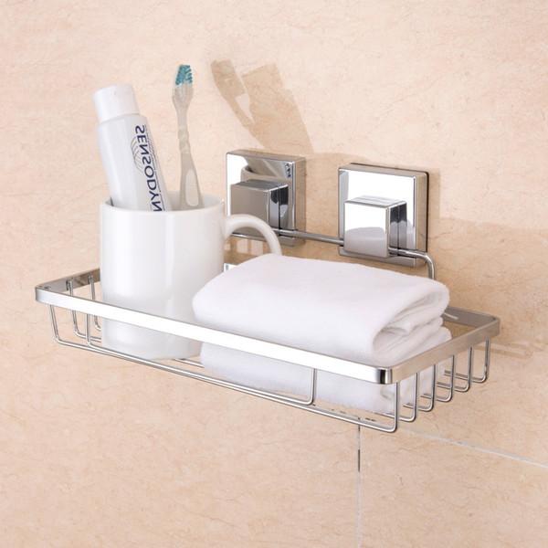 Anho Bathroom Storage Rack Sucker Shampoo Shower Kitchen Toilet Wall Holder Drain Square Basket Shelf Corner Bath Accessories T190711