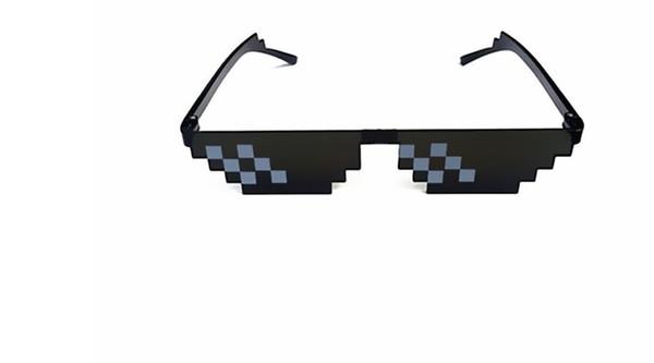 10 adet / grup Thug hayat Bununla Başa Güneş Gözlüğü Erkekler Gözlük Kadınlar Sıcak Satmak Güneş Gözlükleri olygonal Burun Pedi Ile 8 Bit Tarzı Piksel