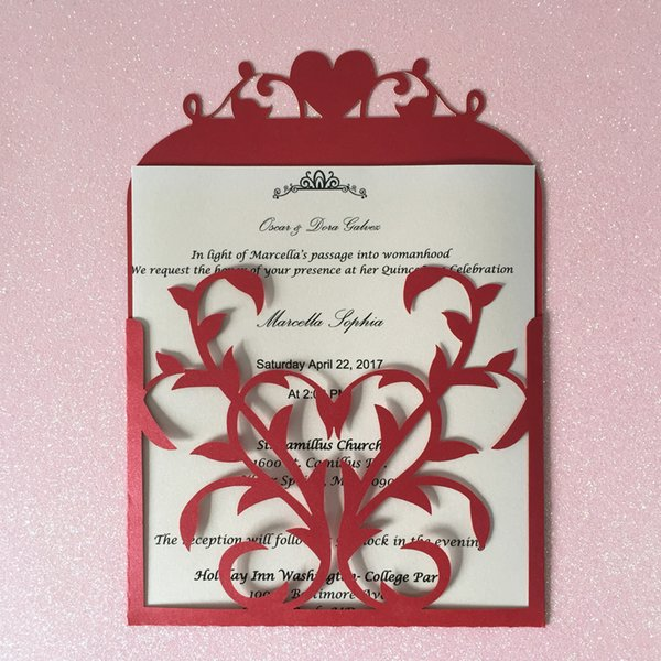 Hollow Laser Cut Weeding Invitation Card Exquisite Invitation Cards Apply To Engagements Festival Gifts Cards Birthday Party Invitation Card Formal