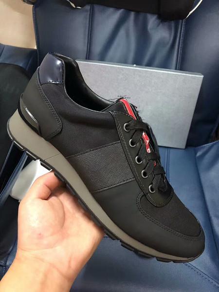 Роскошные Повседневная обувь кроссовки женщины мужчины дизайнер партии лоскутное кожаные туфли на шнуровке квартиры обувь кроссовки xg180431