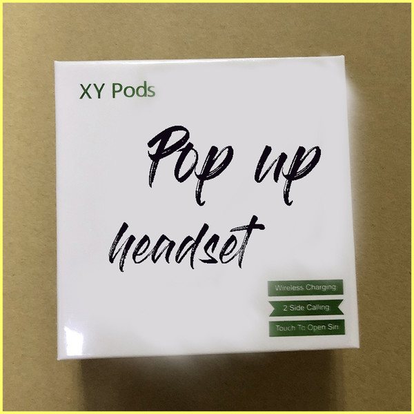 XY pods TWS wireless Bluetooth earphone pop up window support wireless charge touch control headphone earbud stereo headset for iPhone X XR