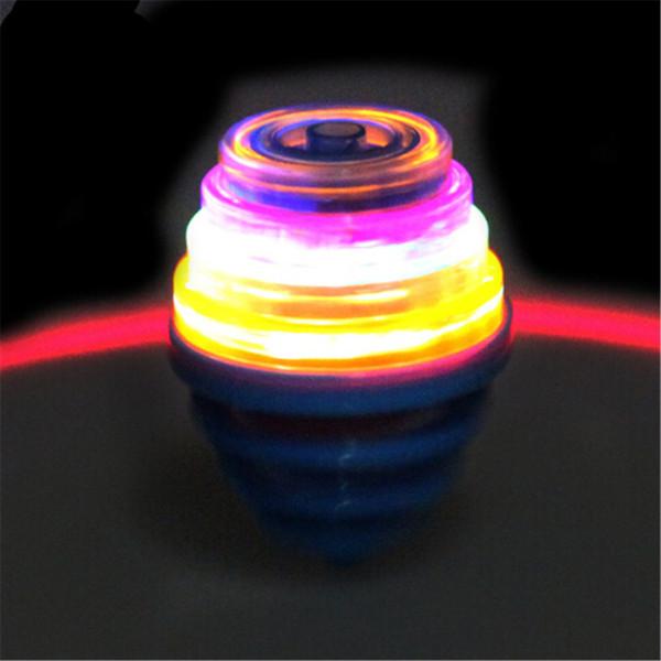 Lumière et musique de printemps colorées gyro-Top toupies enfants jouet