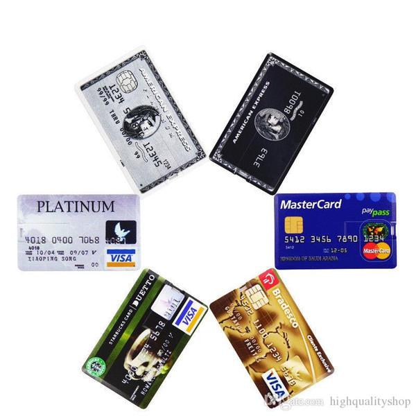 NOUVEAUX COOL STORAGES USB Authentique Nouvelle 32GB-256GB Carte de crédit Clé USB personnalisée Clé USB