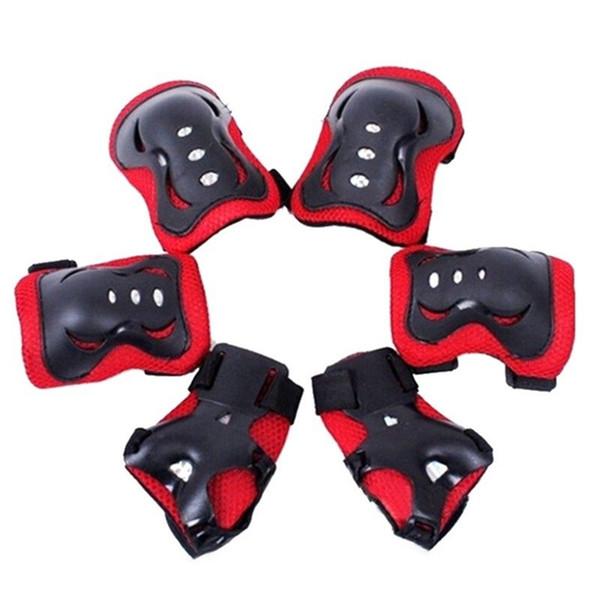 6 шт. / Компл. Катание на коньках защитное снаряжение колено наколенники запястье протектор защита для скутера на роликовых коньках скейтборд # 71140