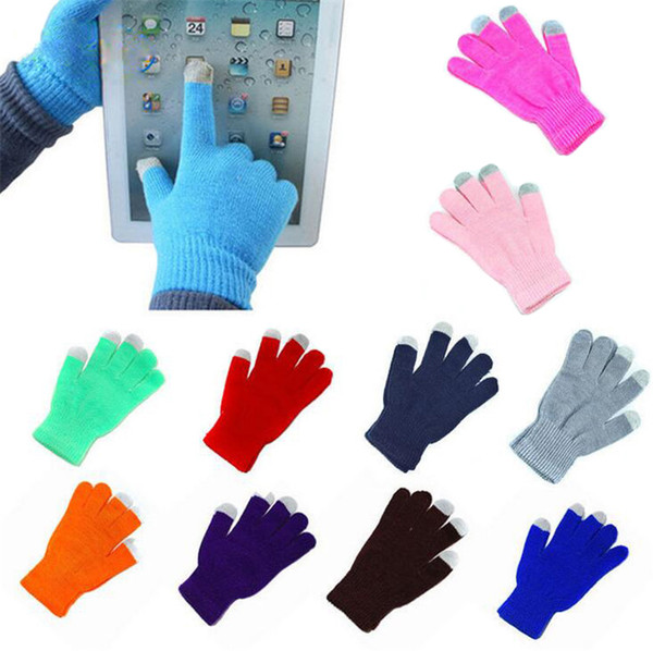 2018 New Winter Knit Wool Touch Gloves for mobile phone Touch Screen Gloves for smartphone