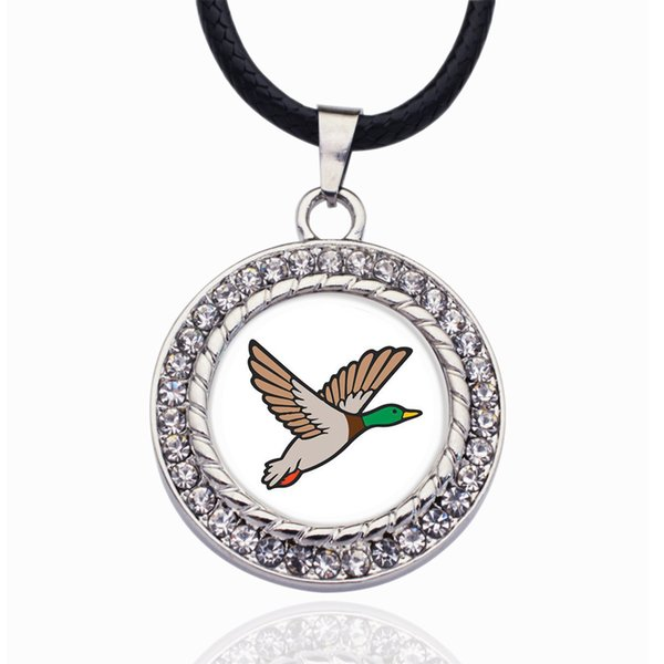 DUCK SEASON CIRCLE CHARM Necklace for crystal stars Pendant Chain Necklaces & chokers Fashion Jewelry