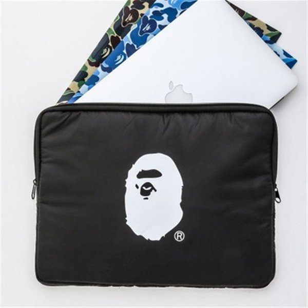 Ape Print Laptop Bag Special Magazine Appendix Popular Logo Black Storage Bag Add Extra Layer Shockproof Super Thick File Bag