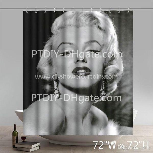 . 2019 Nice World Market Bathroom Set Marilyn Monroe Blonde Bombshells  Bathing Shower Curtains From Ptdiy1   19 65   DHgate Com