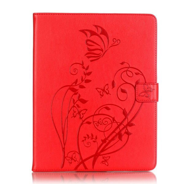 For Samsung Galaxy Tab E 8.0 SM-T377 T375 T378 butterfly embossed flat leather case flip cover card holder + Pen