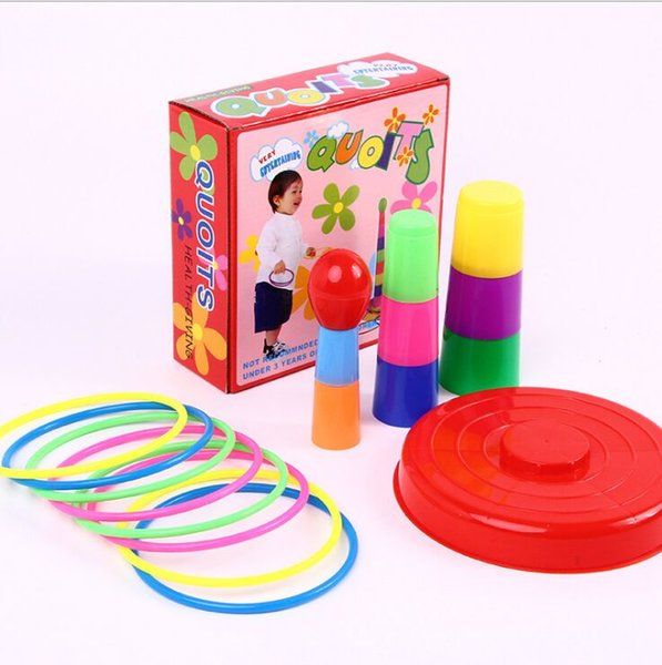 Kids Throwing Rings Set Outdoor Sports Circle Ferrule Stacked Layers Game Parent-Child Interactive Family Party Educational Toys