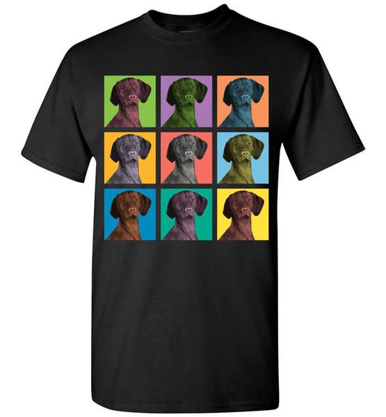 Vizsla Dog Pop-Blocks T-Shirt - Men Women Youth Tank Long Sleeve Tee