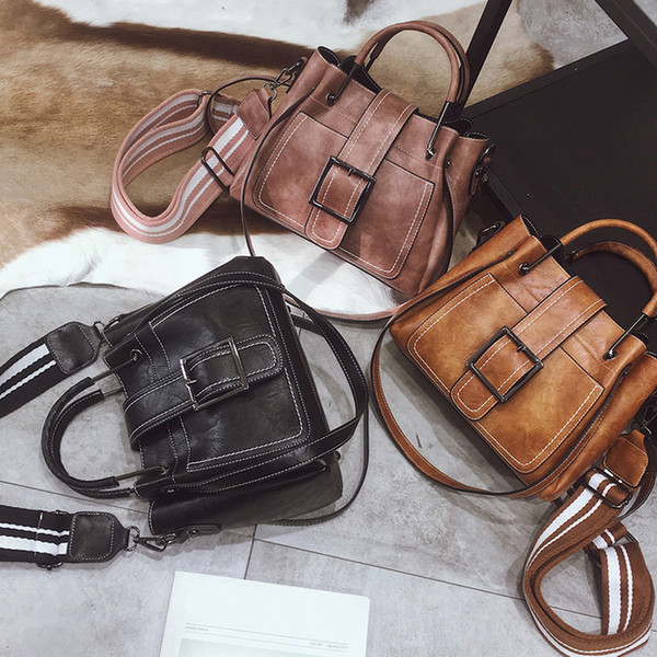 Ретро женские кожаные сумки на длинном ремне, сумки для женщин, большой емкости, сплошной цвет Wild With Corssbody BagHandbag bolsas feminina # 35