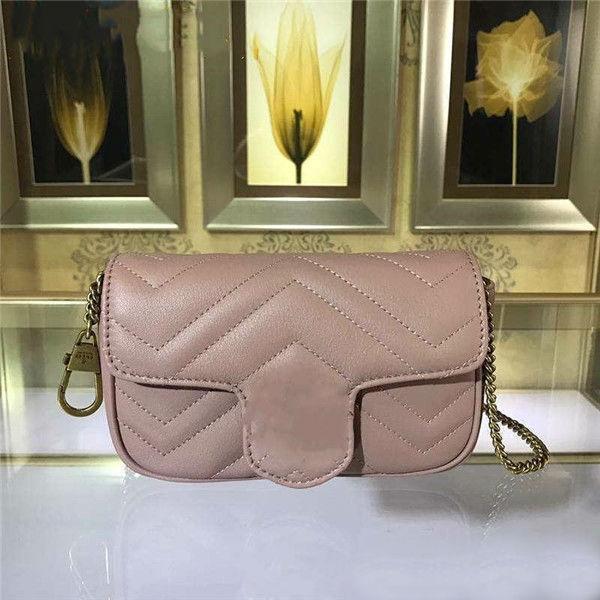 best selling High Quality Brand Square Bag Trend Leather Retro Peach Heart Fashion Plaid Striped Shoulder Bags Chain Bag Sheepskin Messenger Bag