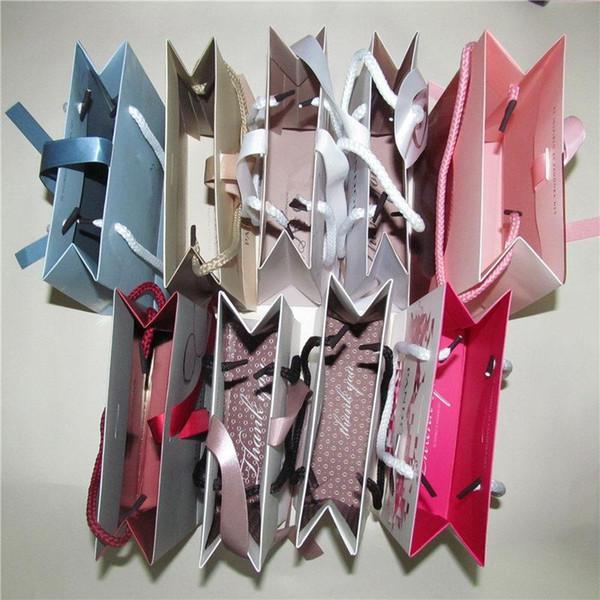 9 различных бумажных ювелирных изделий мешок с лентой для Пан коробка серьги кольцо ожерелье ювелирные изделия упаковка и дисплей 6x6x16cm
