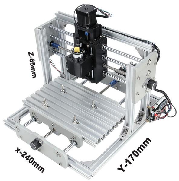 CNC 2417 DIY Máquina de grabado CNC 3 ejes Mini Pcb Fresadora de PVC Máquina de talla de madera de metal Enrutador CNC Control GRBL LLFA