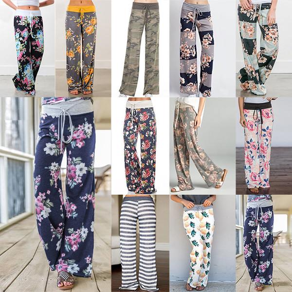 S-3XL Yoga Aptidão Calça Perna Larga Mulheres Calças Esportivas Casuais Moda Harem Pants Calças de Senhora Solta Casa Calças Compridas 19 cor WX9-627