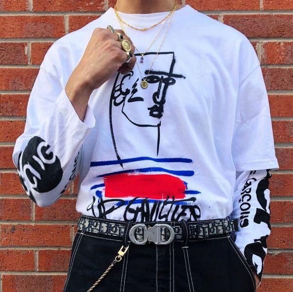 19SS Box X Luxe Desinger Tee High Street Mode Coton À Manches Courtes Hip Hop Hommes Et Femmes Couple D'été T-shirts HFWPTX300