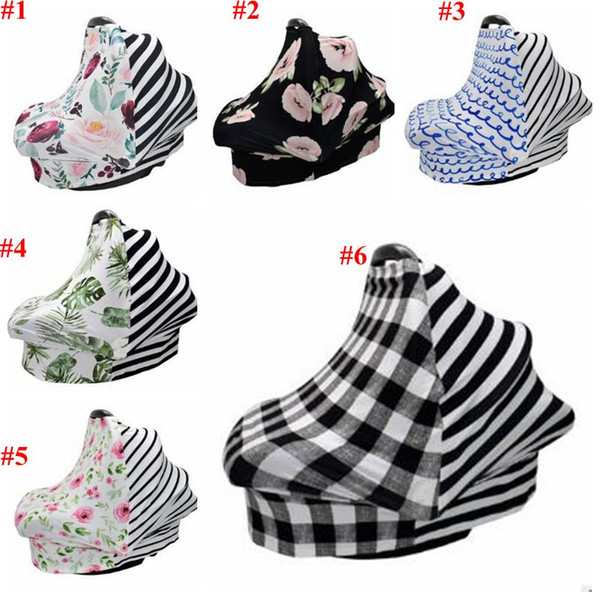 top popular Baby Carseat Canopy Carseat Canopy Car Seat Cover Privacy Nursing Breastfeed Cover Shopping Cart Grocery Trolley Case High Chair Cover B4801 2021