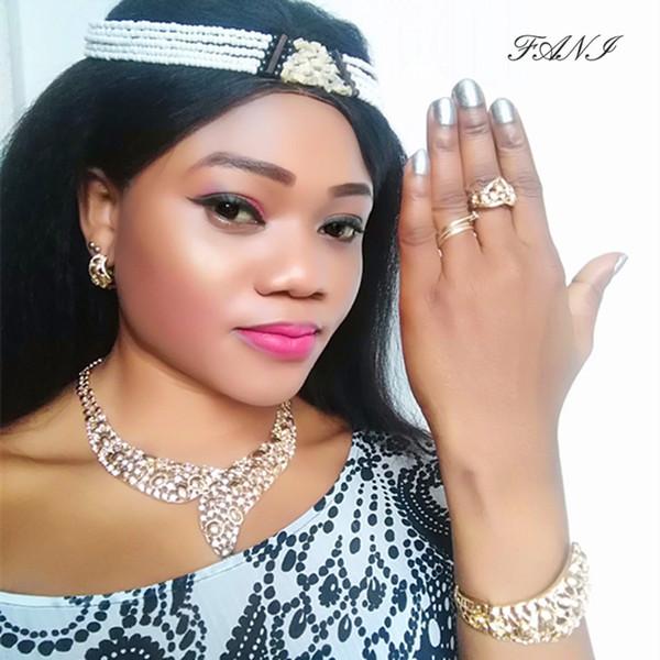 Fani Dubai Gold Colorful Jewelry Set Women Wedding accessories jewelry set Brand Fashion African  Wholesale