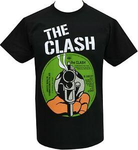 MENS PUNK T-SHIRT THE CLASH WHITE MAN IN HAMMERSMITH PALAIS RECORD COVER S-5XL