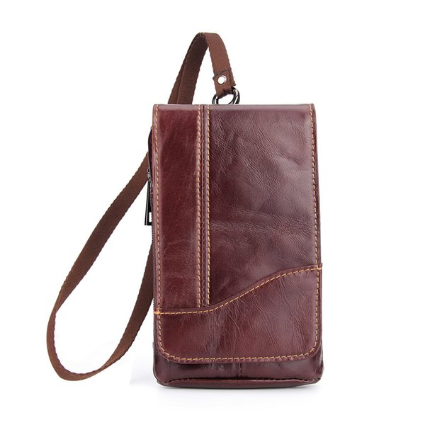 Genuine Cow Leather Casual Men's Waist Belt case for oukitel k7 Universal Phone bag For oukitel All Cell phone pouch