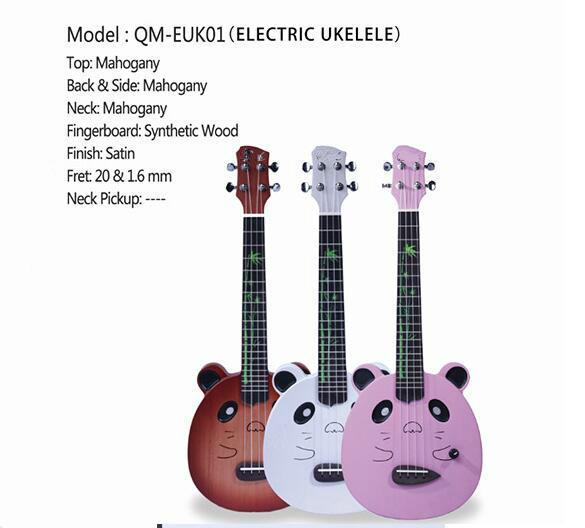 freies Verschiffen Neues Spitzenukulele-Hamsterpanda-nettes elektrisches Kastenukulele-Anfänger-vorgerücktes Praxis-Gitarreninstrument