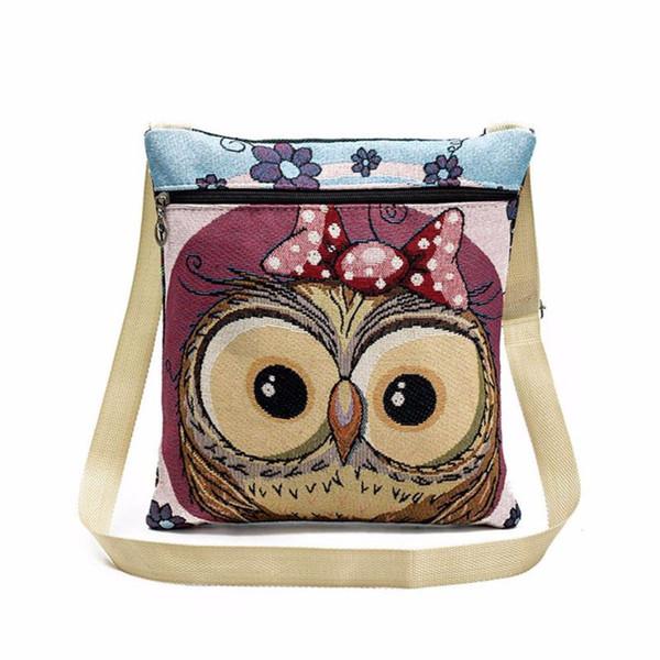 Cheap Designer Owl Tote Bags Women Shoulder Bag Handbags Postman Package Embroidered Handbag Women crossbody bags for womens Lucky's