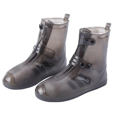 Fashionable men's and women's shoes cover waterproof riding fashion anti-skid wear-resistant easy to carry rain shoes cover rain boots cover