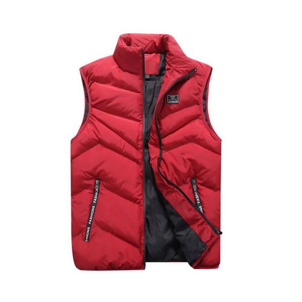 Men Jacket Sleeveless Winter Vest Cotton-Padded Men's Vest Fashion Casual Coats Men Thicken Waistcoat Large Size 4XL