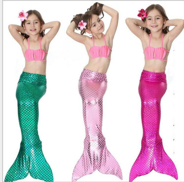 34 design Girls Bikini Mermaid Tail Swim Suit Dress Infant Kids Swimsuit Swimwear Bathing Suits Summer Swimwear Costumes