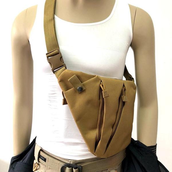 Multifunctional Concealed Airsoft Pistol Tactical Hunting Hand Gun Bag Holster Left Right Nylon Shoulder Bag Men's Chest #717446