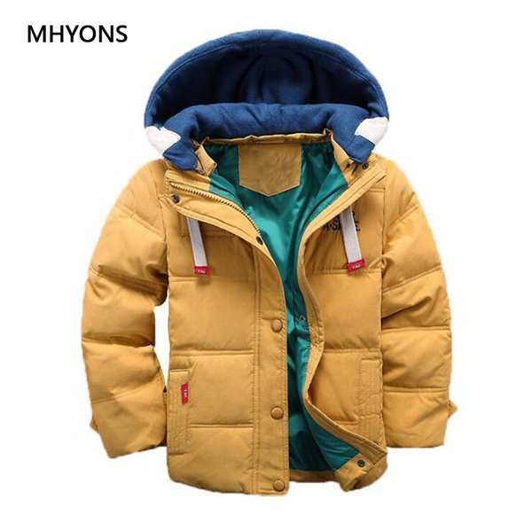 Boys Winter Jacket Kids Cotton Snowsuit Coats Children Thicken Warm White Duck Down Kids Girl Coat Baby Detachable Cap Outerwear