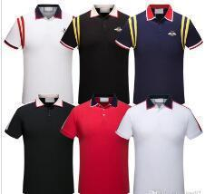 Explosions Italy fashion Classic Luxury designer Brand new men polo t shirts short sleeve embroidery Letter mens polos