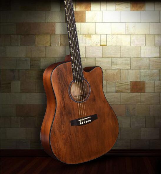 Los más vendidos Pastillas de caja eléctrica abeto Nanyangmu guitarra popular 41 pulgadas principiantes de guitarra de madera muestran tocar instrumentos musicales
