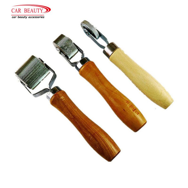 3Pcs/Set Car Tire Repair Kit Roller Auto Patch Roller Motorcycle Wheel Repair With Wooden Handle Tire Repairing Tool For Car