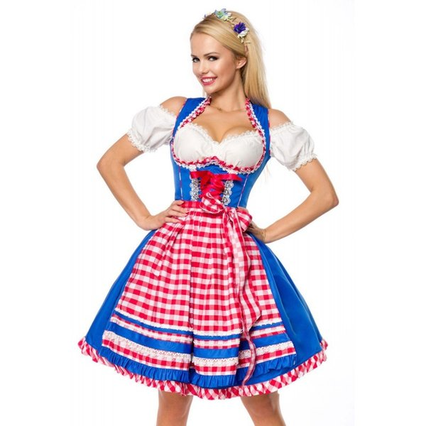 Tedesco Dirndl abito tradizionale bavarese Oktoberfest costumi adulti donne Birra domestica Cosplay travestimenti