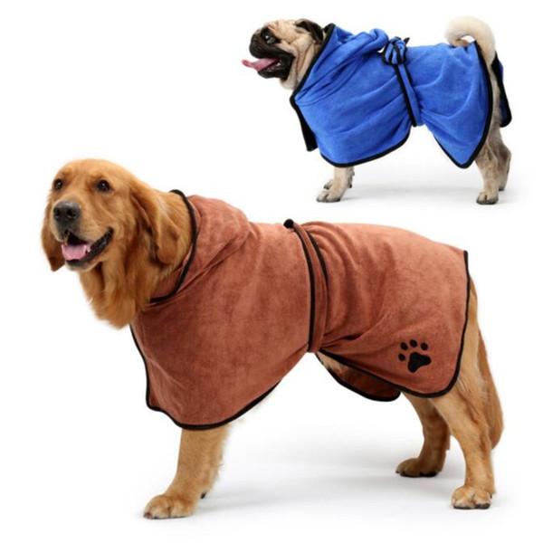 Küçük Orta Büyük Dogs 400g Mikrofiber Süper Emici Pet Kurutma Havlu Kumaş Coat Köpek Bornoz XS-XL Pet Köpek Banyosu Havlu