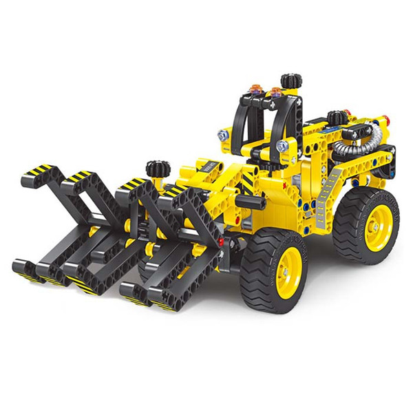 2-In-1 Transformable Engineering Car Assembly Building Blocks Car For Children Puzzling Toys 301pcs Vehicle Model Building Kit VB
