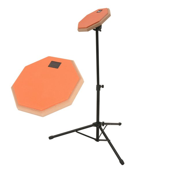 top popular 8 Inch Gray Rubber Wooden Dumb Drum Practice Training Drum Pad with Stand 2021