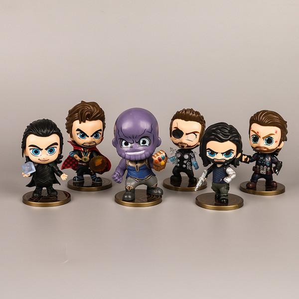 Funko PoP Thanos ve Avengers Bebek Oyuncak Araba Dekorasyon Sallayarak Kafa Bebek Marvel film Avengers 4 Komik Antistres Yetişkin Oyuncaklar Çocuk Oyuncakları