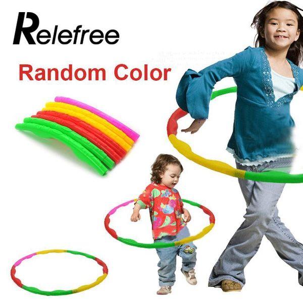 Wholesale- relefree Universal relefree 65cm Plastic Colourful Kids Hula Hoop Child Sports Aerobics Gymnastic Adjustable Sport Accessories