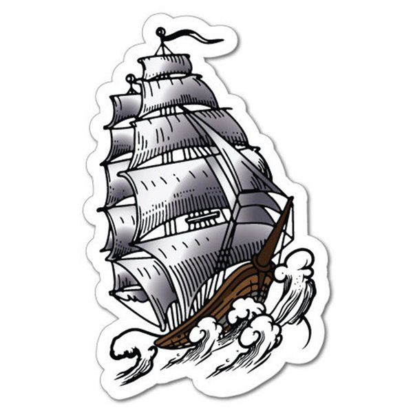 Big Ship Sticker Driving On The Sea Paper Tattoo Art Sailor Vinyl Accessories Decoration Personality Car Decal