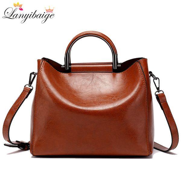 Classic Women Tote Retro Women Bag High Quality Leather Crossbody Bag Designer Lady Brand Shoulder Bags Brown Big Handbags Sac