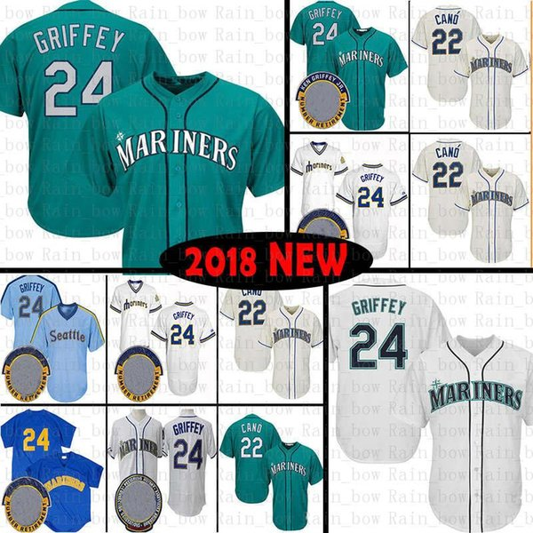 quality design 2cd29 7167d 2019 Seattle Mariners Baseball Jersey 22 Robinson Cano 24 Ken Griffey Jr.  Jerseys Mens Adult Cool Base Flex 2019 From All_star_jerseys, $40.02 | ...