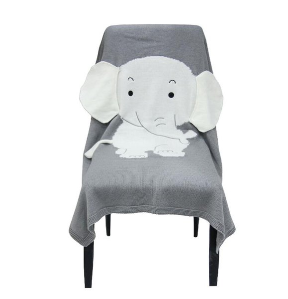 Girls Boys Blanket Thick 70*110cm Bedding Knitted Blankets Wrap Soft Blankets Newborn Cute Elephant Swaddling Kids Gift Girls Blankets Gifts