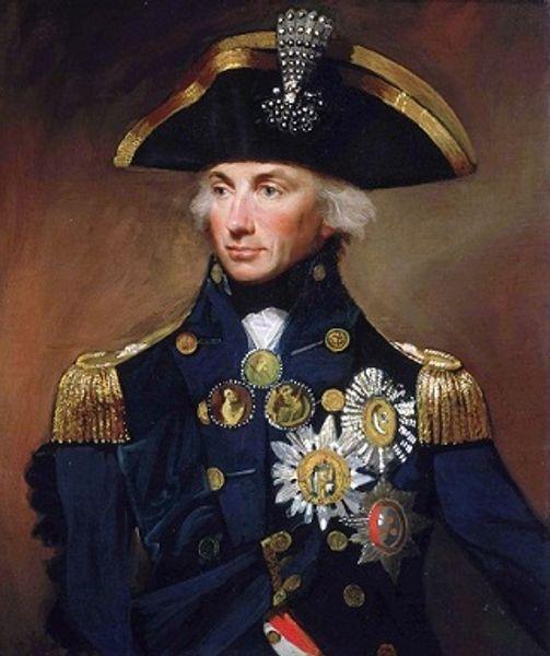 Lord Nelson British Royal Navy Admiral Porträt handgemalte HD Print Abbildung Ölgemälde Wandkunst auf Leinwand Held der Napoleonischen Kriege P107