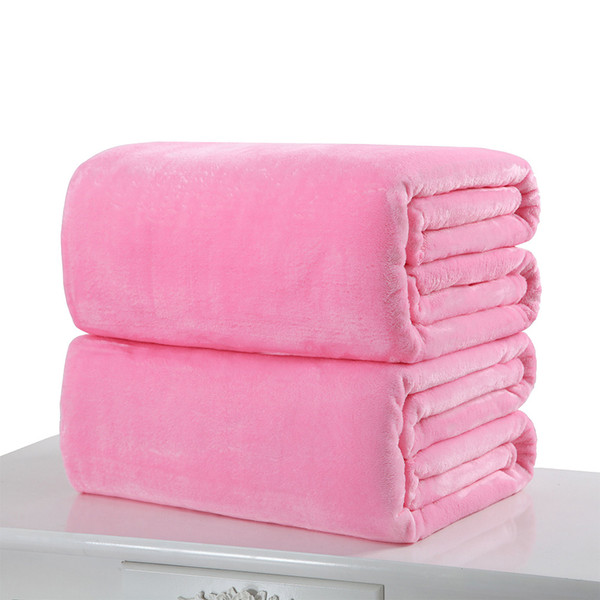 cyclamen9 Flannel Blanket, Fluffy Throw Blankets Pure Color Super Soft Microfiber Blanket for Sofa Bed (120x200cm,Grey)