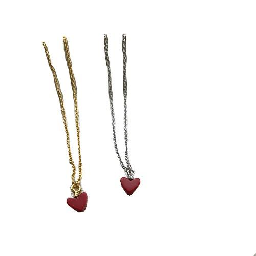 Wholesale Hicolor 925 Silver Love Necklace Small Red Heart Women S