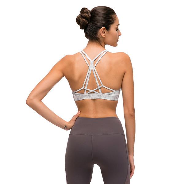 LU-83 Sujetador de yoga para espalda hermosa Mujer a prueba de golpes Correr Entrenamiento Gimnasio Top Camisa de fitness transpirable Chaleco deportivo